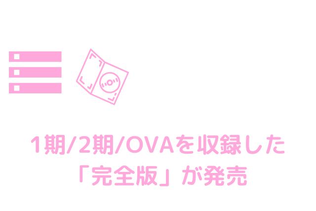 1期/2期/OVAを収録した完全版が発売